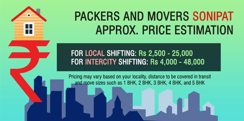 Packers and Movers Charges in Sonipat