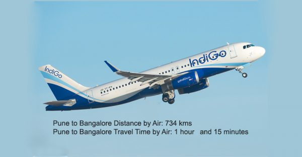 Pune-to-Bangalore-Distance-by-Air